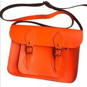 Cambridge Satchel company neon orange bag